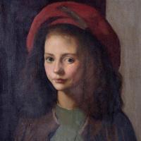 Red hat. Italian girl