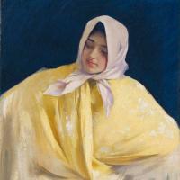 Хула. Портрет испанки в желтой шали