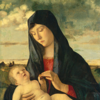 Мадонна с младенцем в пейзаже
