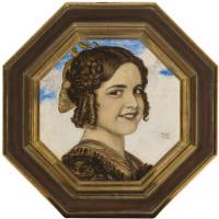 Franz von Pieces. Portrait of the artist's daughter Marie von Stuck.