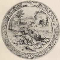 Лукас ван Лейден (Лука Лейденский). Христос в Гефсиманском саду, Тондо