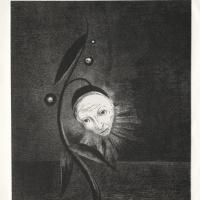 Одилон Редон. Посвящение Гойе: Болотный цветок и Человеческая и грустная голова