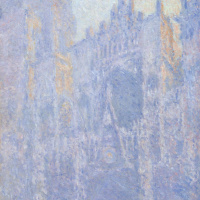 Claude Monet. Rouen Cathedral, the main entrance, morning mist