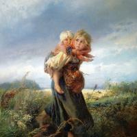 Константин Егорович Маковский. Дети, бегущие от грозы