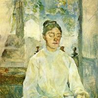 Мать художника, графиня Адель де Тулуз-Лотрек, за завтраком