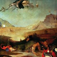 Иероним Босх. Искушение Святого Антония. Левая створка триптиха