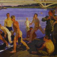 «Купающиеся солдаты (Строители моста)» 1959