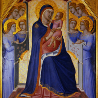 Пьетро Лоренцетти. Мадонна с Младенцем и ангелами