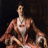 Уильям Меррит Чейз. Мисс Дороти Чейз в розовом платье