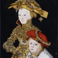 Лукас Кранах Старший. Портрет знатной дамы с сыном