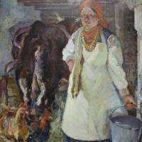 Абрам Маркович Черкасский. Доярка