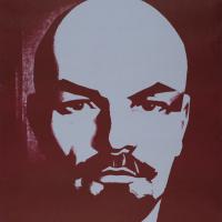 Неизвестный  художник. Дело и имя Ленина будут жить вечно!