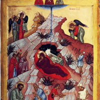 Christmas with selected saints (Evdokia, John of the ladder and Juliana)
