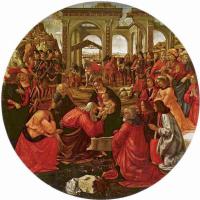 Доменико Гирландайо. Поклонение волхвов, тондо