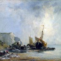 Ричард Паркс Бонингтон. Лодки у берега Нормандии