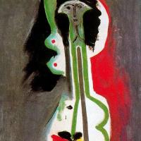Пабло Пикассо. Обнаженная брюнетка