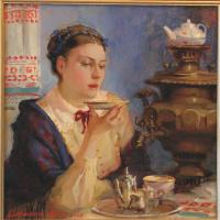 Полина Борисовна Лучанова. Купчиха за чаем.  2004