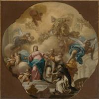 Франческо Де Мура. Богородица показывает портрет святого Доминика брату Сориано