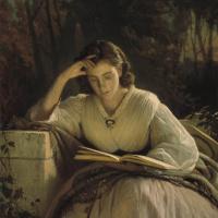За чтением. Портрет Софьи Николаевны Крамской, жены художника