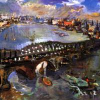 Oskar Kokoschka. London, Waterloo bridge