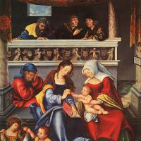 Лукас Кранах Старший. Святое семейство