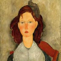 Амедео Модильяни. Портрет юной девушки на стуле
