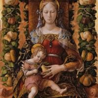 Карло Кривелли. Мадонна делла Канделетта. Алтарь из кафедрального собора в Камерино