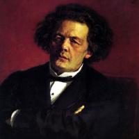 Илья Ефимович Репин. Портрет композитора А. Г. Рубинштейна.