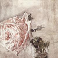 Михаил Александрович Врубель. Роза в стакане