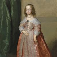 Портрет принцессы Марии Генриетты, дочери короля Карла I Английского, в розовом платье