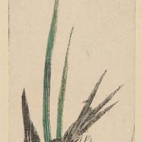 """Утагава Хиросигэ. Ласточка и ирис. Серия """"Птицы и цветы"""""""