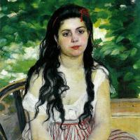 Pierre Auguste Renoir. Summer. Gypsy