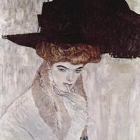 Густав Климт. Черная шляпа с пером