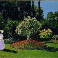 Клод Моне. Дама в саду Сент-Адресс