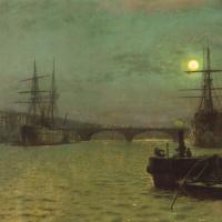 Мост, освещенный луной
