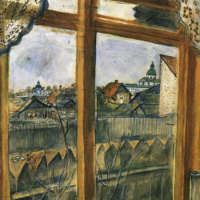 Marc Chagall. The view from the window. Vitebsk