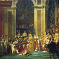 The coronation of Napoleon in Notre Dame Cathedral on 2 December 1804