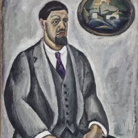 Self-portrait in grey
