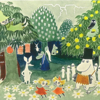 Cover for the book by T. Jansson about the Moomin