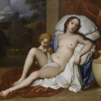 Portrait of Nell Gwyn in the image of Venus