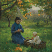 Вирджиния Демон-Бретон. Под апельсиновым деревом