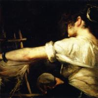 Копия фрагмента «Прях» Веласкеса