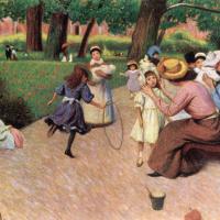 Детские игры в парке Монсо