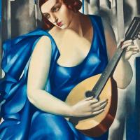Tamara De Lempicka. Woman with a mandolin