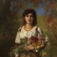 Цыганка с цветами. 1907
