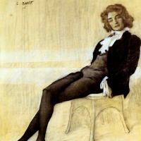 Lev Samoilovich Bakst (Leon Bakst). Portrait Of Zinaida Hippius