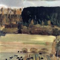 Alexander Alexandrovich Deineka. Landscape with a herd