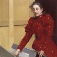 Андерс Цорн. Портрет Эммы в парижской студии