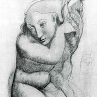 Пабло Пикассо. Женщина, расчесывающая волосы