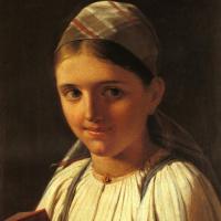 Девушка с гармошкой